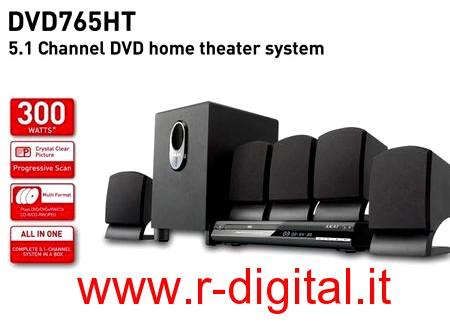 HI FI AKAI 5.1 CINEMA DOLBY SURROUND DVD 300W HOME THEATER DIGIT